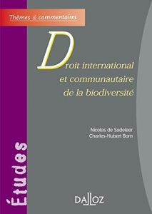 Book Cover: Droit international et communautaire de la biodiversité