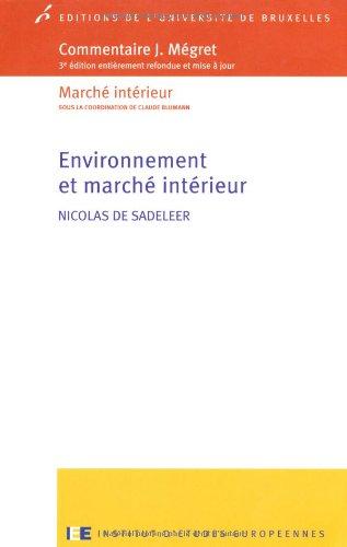 Book Cover: Environnement et marché intérieur