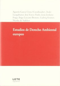 Book Cover: Estudios de Derecho Ambiental europeo