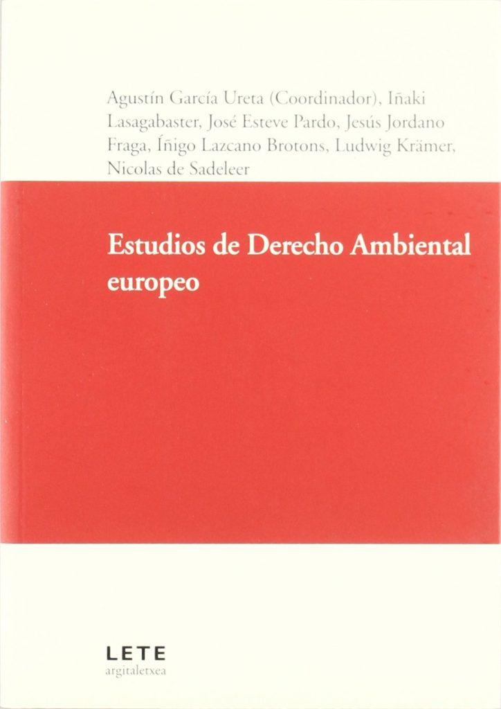 Book Cover: Estudios de Derecho Ambiental europeo